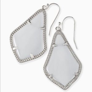 Kendra Scott Alex Silver Slate CatEyeDrop earrings